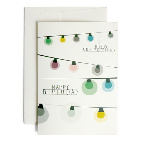 Greeting Card - Birthday card - Lights