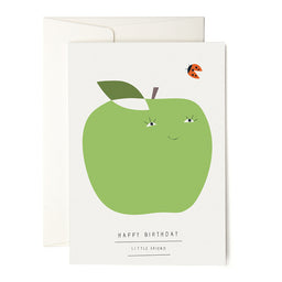 Happy Birthday Apple Greeting Card
