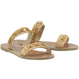 Poulia slippers - Natural / gold
