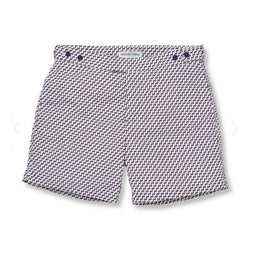 Tailored Swim Shorts - Leme - Charcoal / White