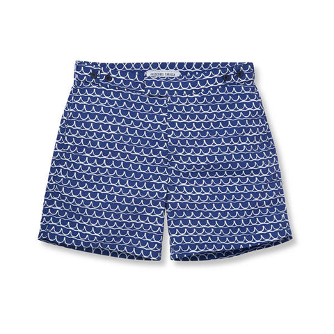 Tailored Swim Shorts - Planalto Small - Navy / White