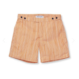 Tailored Swim Shorts - Tracos Small - Orange / White