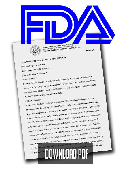 FDA ROCKS VAPOR INDUSTRY WITH SWEEPING REGULATIONS
