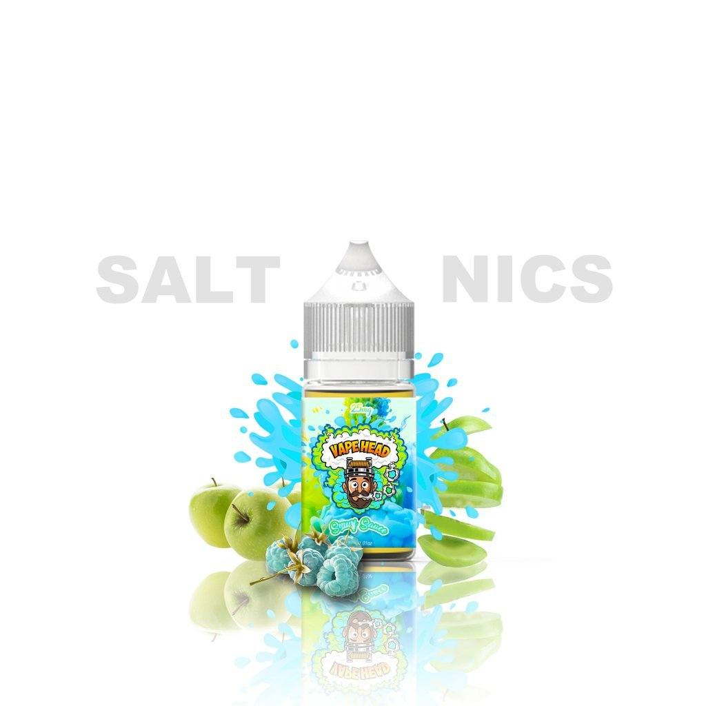 Vape Heads Salt Smurf Sauce Blue Razz Green Apple 30ml
