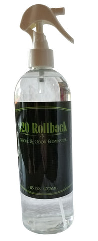 420 Rollback Smoke & Odor Eliminator 16oz Bottle - Get Back to a Zero Odor & Zero Smoke Smell
