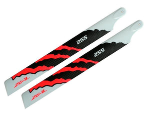 ZEAL Carbon Fiber main blade 255mm Energy (Neon Orange)