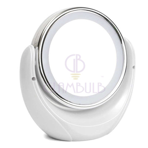 GLAMBULB LED 5x Magnifying Double Sided Mirror  - GLAMBULB®