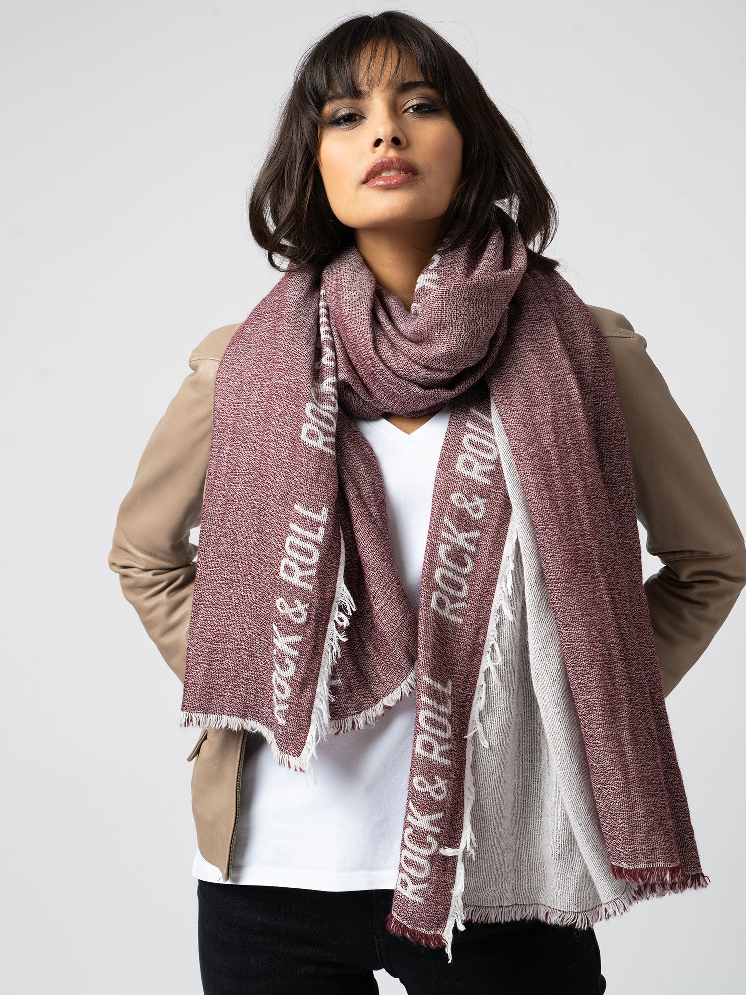 Rock & Roll Scarf - Burgundy