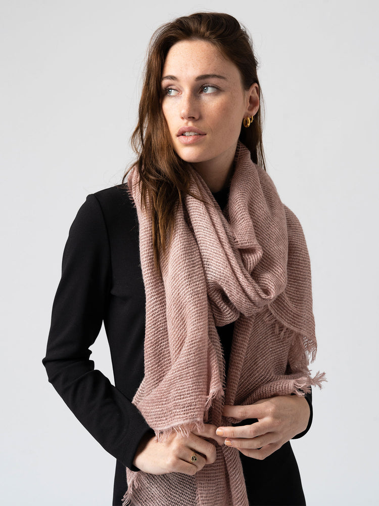 The Sequin Scarf - Pink