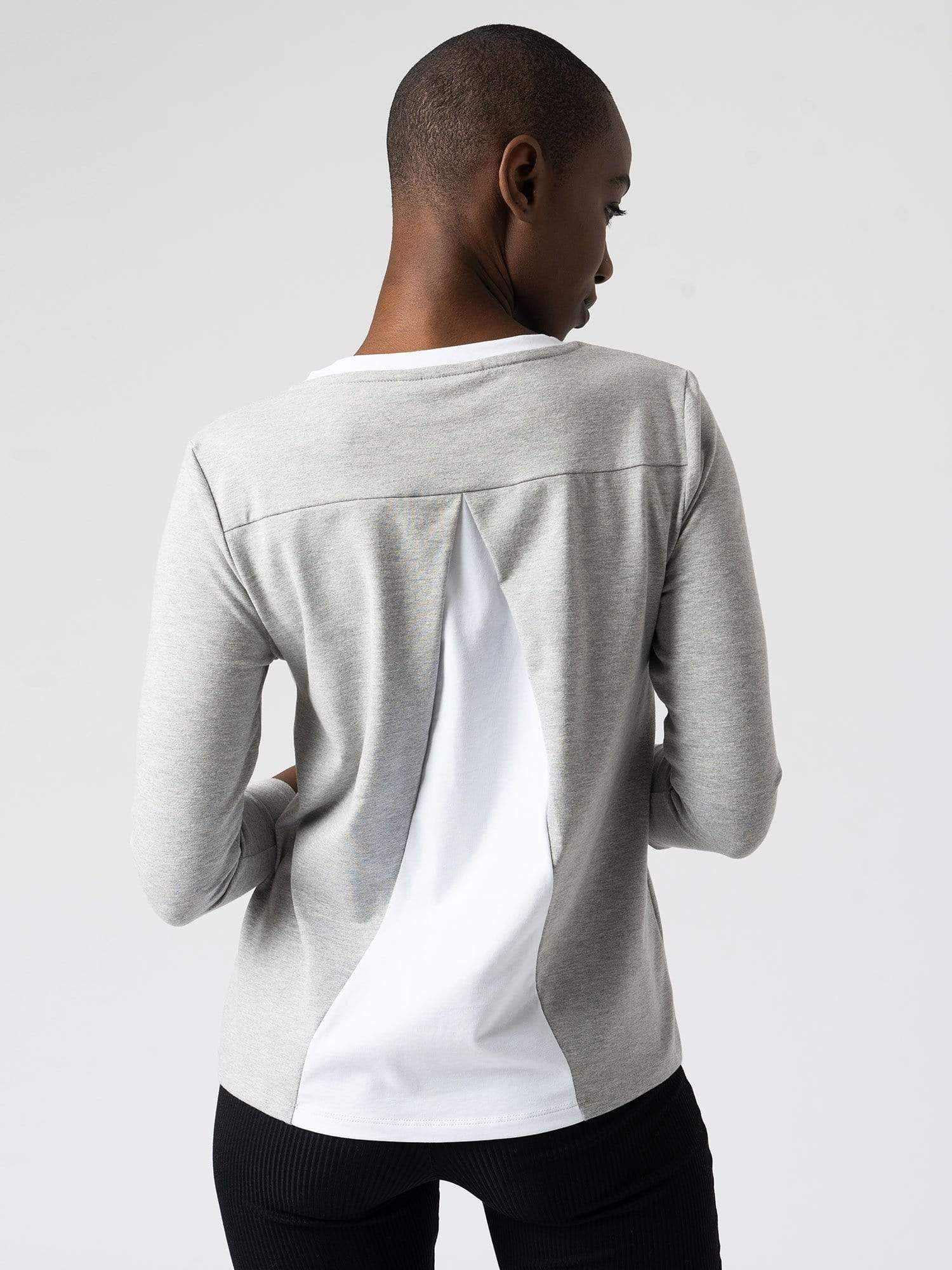 Sweater Contrast Sweater - Grey Zaggora UK