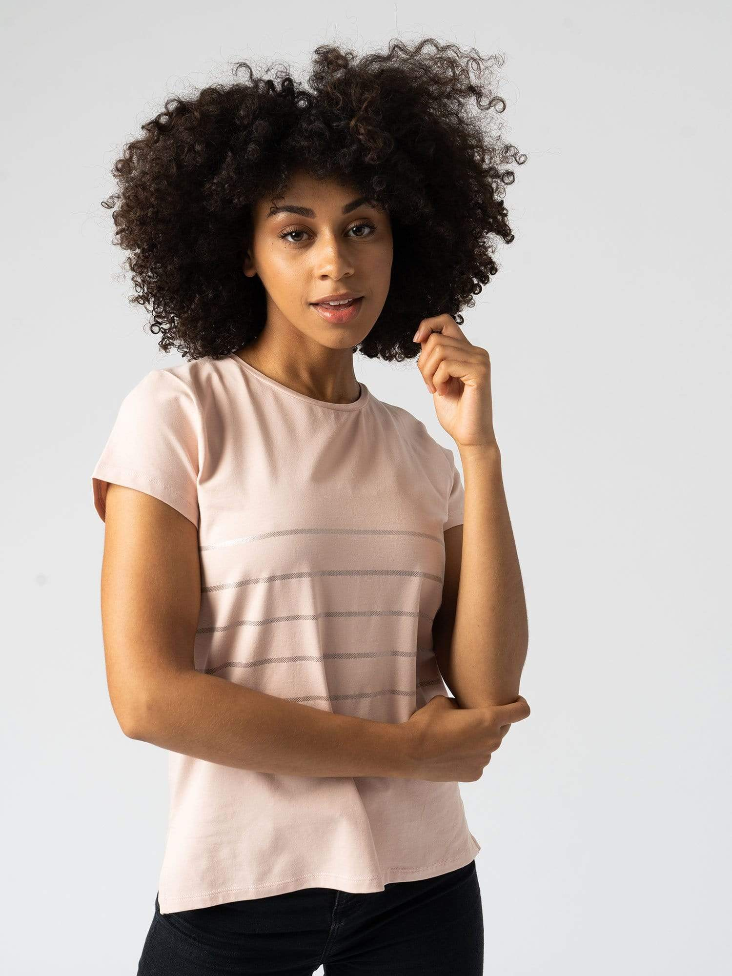 Easy Tee Stripe Pink