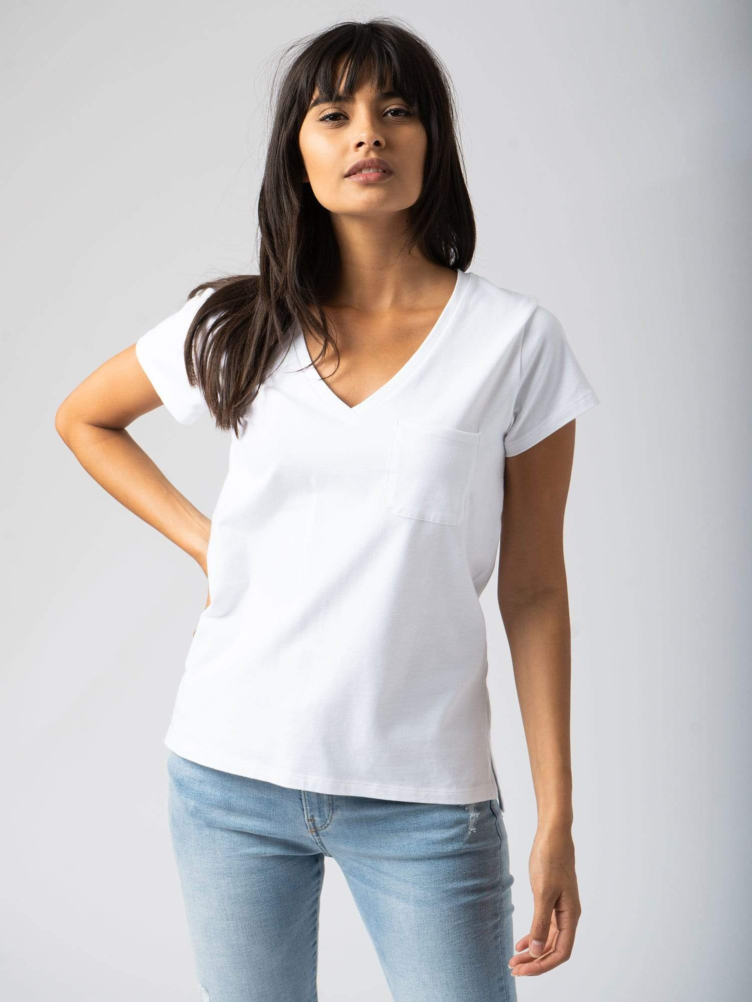 T-shirts Pocket Tee - White Zaggora UK