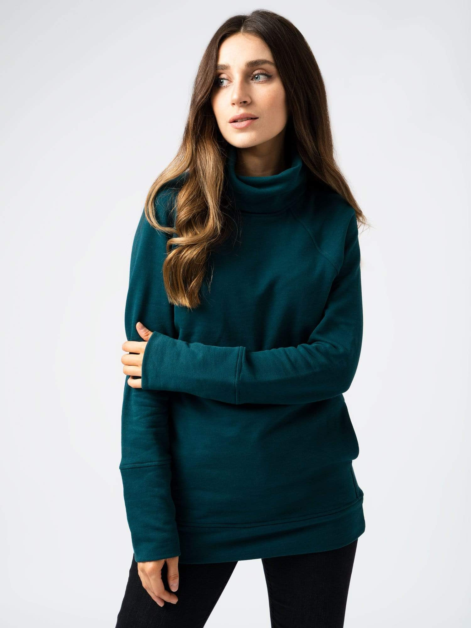 Roll Neck Teal Green