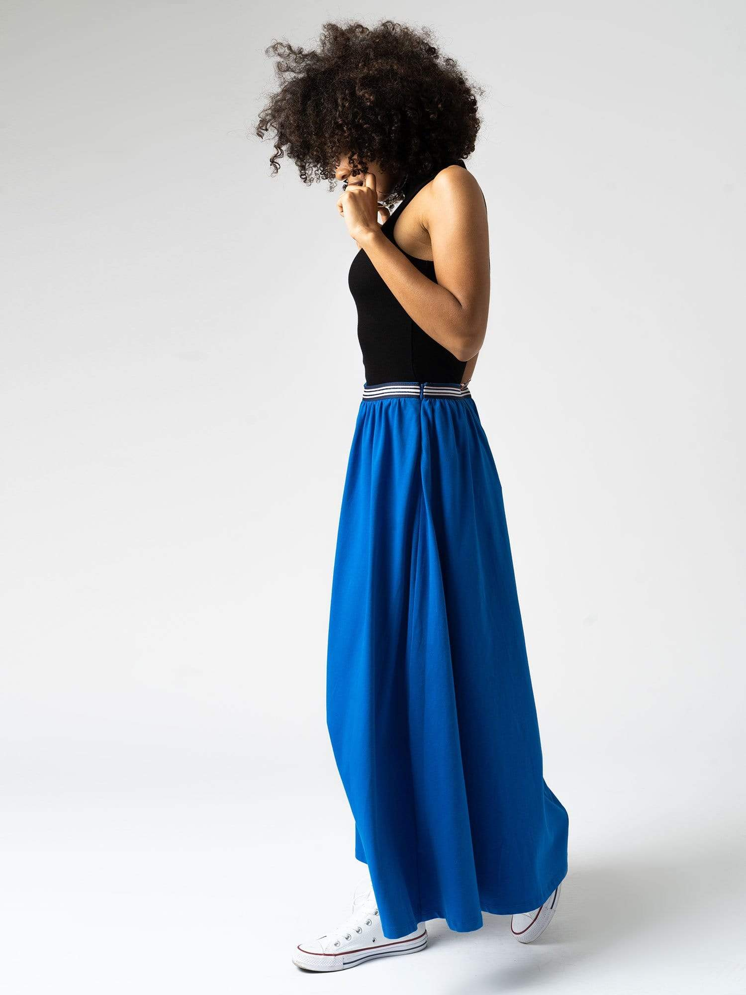 Dress The Maxi Skirt - Blue Zaggora UK
