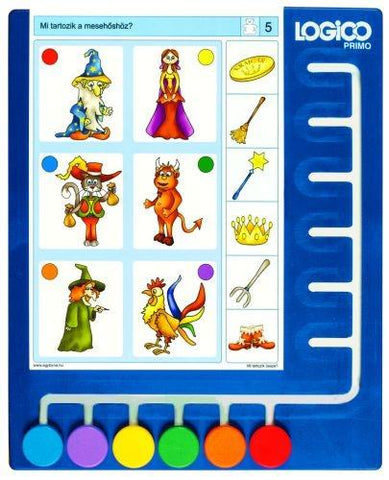 Board with 6 moveable buttons From 3 to 6 years Concentration & perception Logical thinking Colours & Shapes Numeracy Reading Readiness Sequencing Sorting and classifying Language development