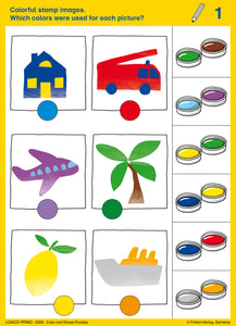 Color and Shape puzzles card 1