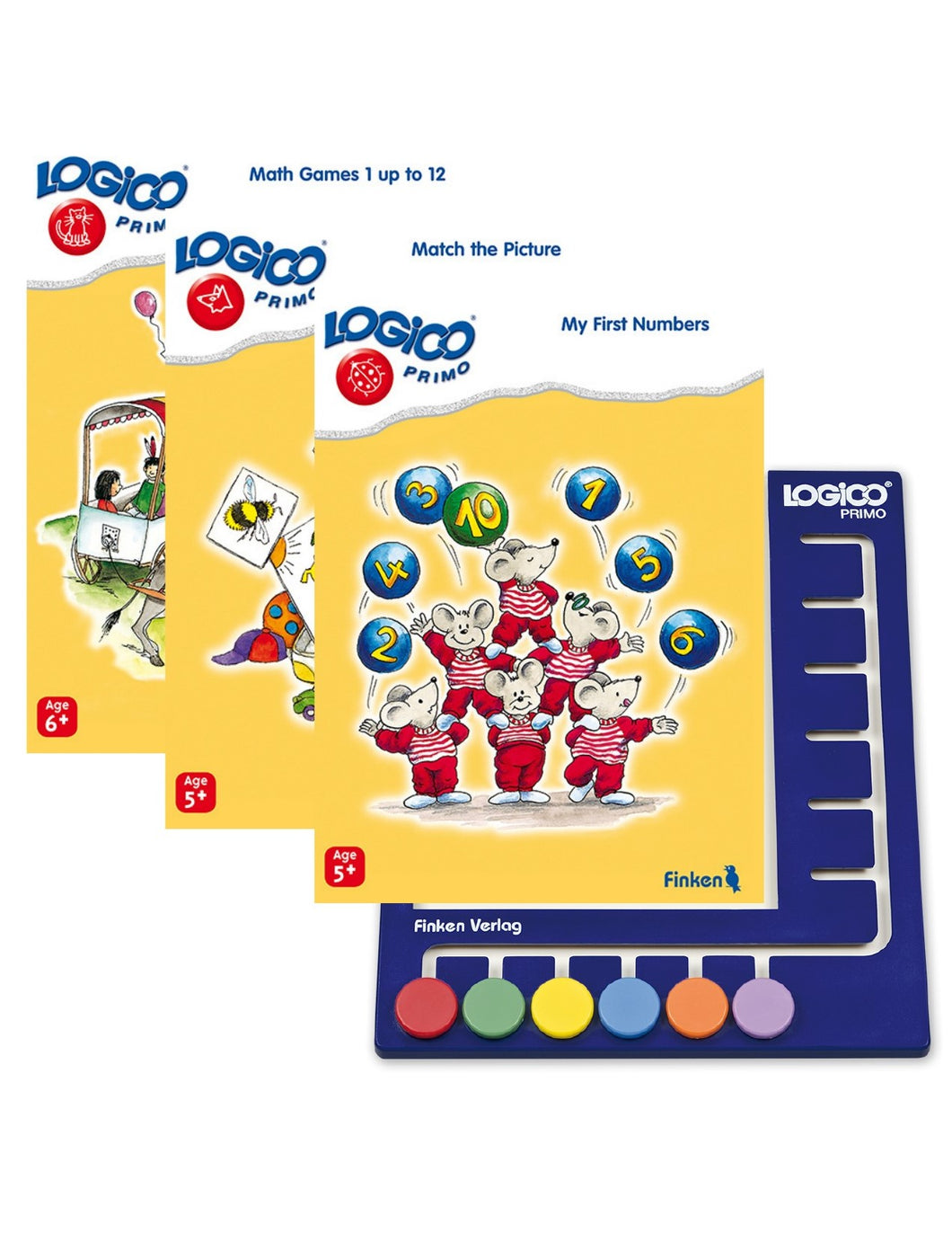LOGICO Primo Starter Package: 3 books and 1 board (Ages 5-7)