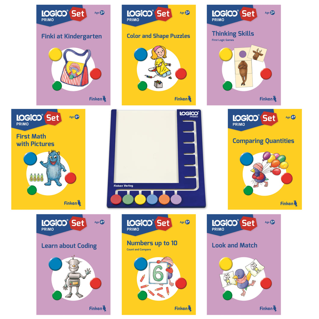 LOGICO Primo set NEW 8 books and board