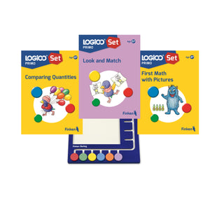 LOGICO Primo starter set NEW Age 4+ (3 books and board)