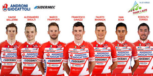 THE ANDRONI GIOCATTOLI SIDERMEC AT THE TOUR OF THE ALPS