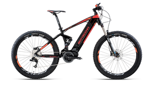 "BE 37 BOOSTER E-FULL SUSP. 27,5""SRAM X5 9S BAFANG MAX DRIVE"