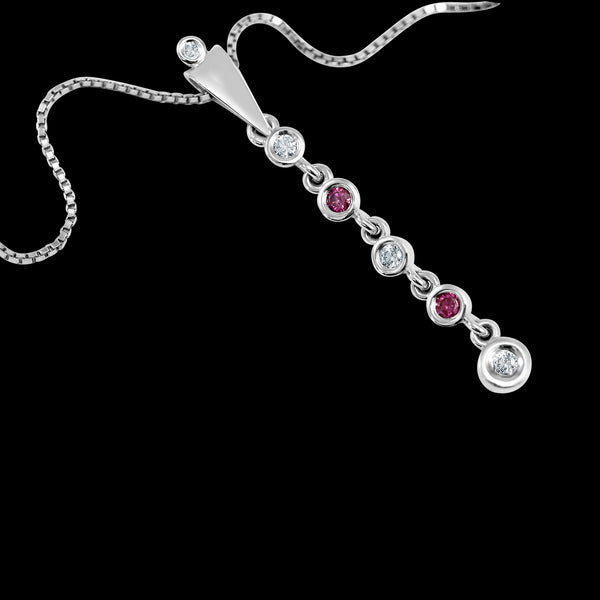 Rosa & Bianca Diamant Necklace