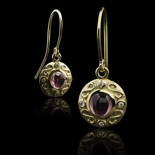 Tormalina & Diamante Earrings
