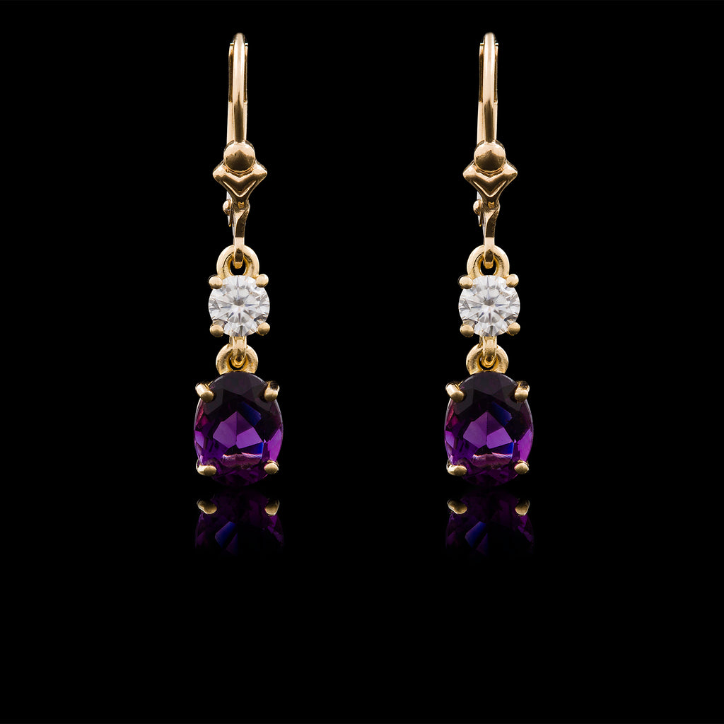 Ametista Diamante Earrings
