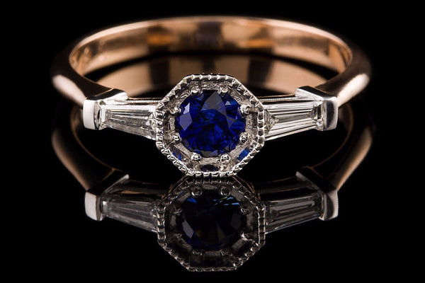 Art Deco Dark Zaffiro Ring