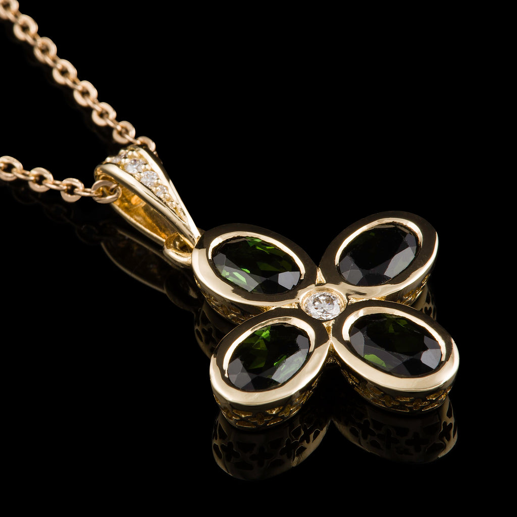 Tormalina & Diamante Necklace
