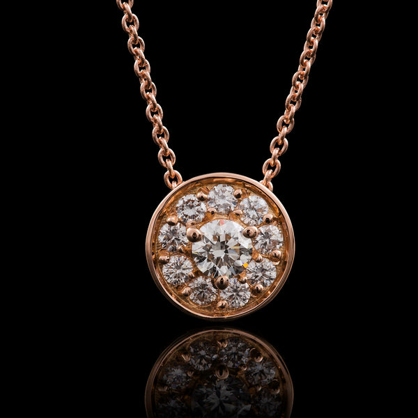 Rosa Halo Necklace