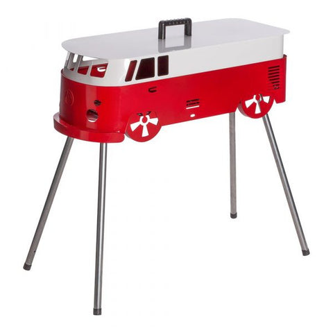 Novelty BBQ | Red and White Camper Van | Camping & Outdoor Grill