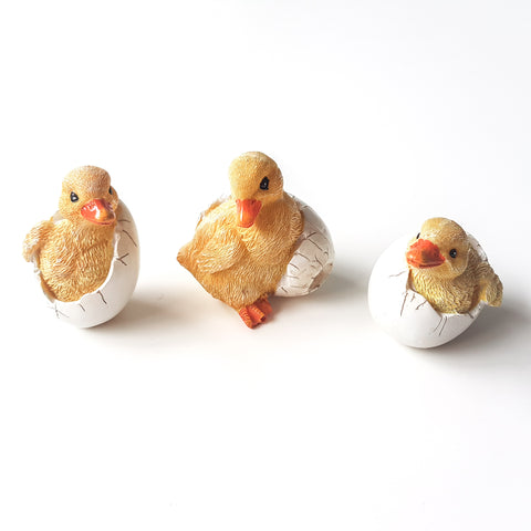 3pc Hatching Ducklings Ornaments