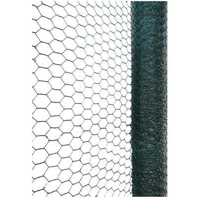 Green PVC Coated Chicken Rabbit 13mm / 25mm Wire Mesh Fencing Garden ...