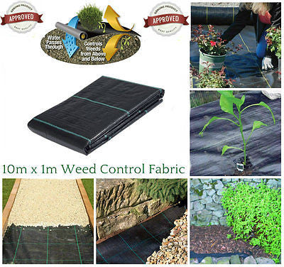 1m X 10m  Weed Control Fabric Membrane Ground Sheet
