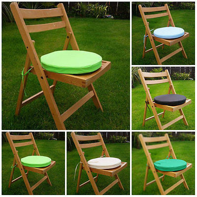 2x Round Garden Chair Cushion Pad