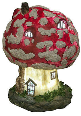 18cm Solar Powered Soft LED Toadstool Fairy House