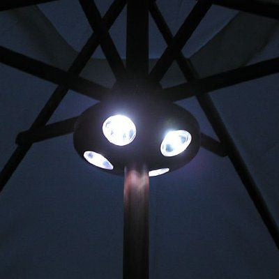 16 Led Parasol Garden Light