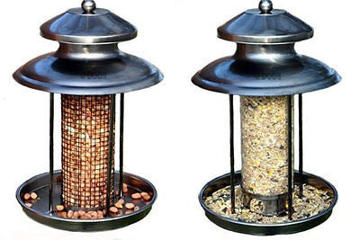 Deluxe Steel Lantern Bird Feeding Station