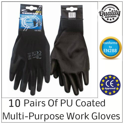 10x Safety Work Gloves