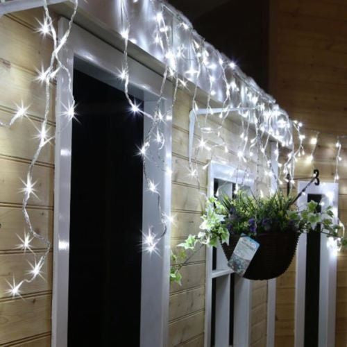 Christmas lights 365onlineshopping christmas led white snowing icicle bright party wedding xmas outdoor lights aloadofball Gallery