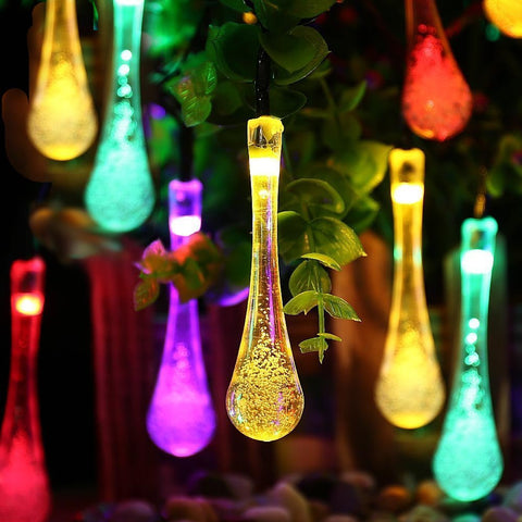 20 Multi-Color Water Drop Led  Solar Powered Lights