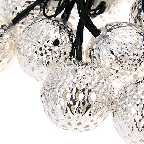 12 Metal Globe Balls String Lights
