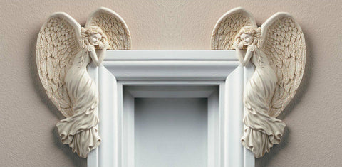 New Door Frame Angel Wings Wall Sculpture