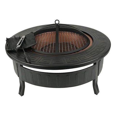 Large Round Garden Fire Pit | BBQ Firepit Brazier | Stove Patio Heater