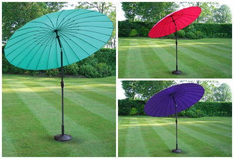 2.6m Large Modern Metal Garden Patio Parasol Umbrella