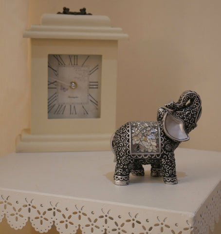 New Silver Mosaic Elephant Arican Ornament