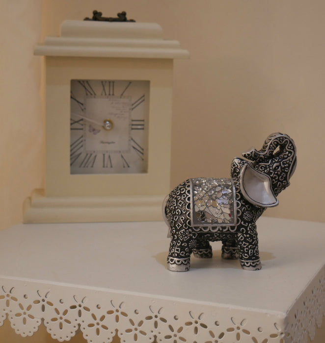 New Silver Mosaic Mirror Elephant African Ornament Gift Figurine Home Decor  UK ...