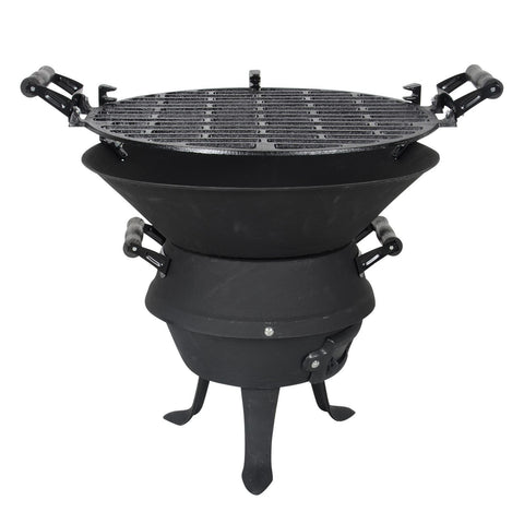 Cast Iron BBQ | Fire Furnace Outdoor Barbecue Grill | Charcoal Cast Iron Barbecue Stand