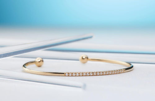 Enchanting Cuff-Diamond bracelet, Bracelet, Gold bracelet, Bangle, Gold bangle, Diamond bangle-TOR Pure Jewelry